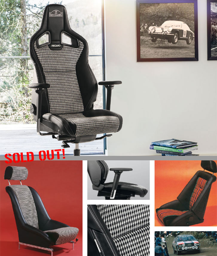 "RECARO Office-Chair at the anniversary ""50 years body-contoured seat"""